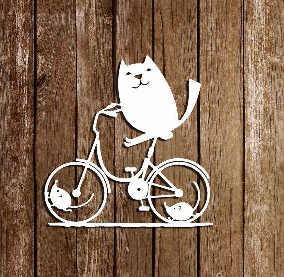 SVG Cutting Files PDF Paper Cutting Template Cat von DreamyMarimmy