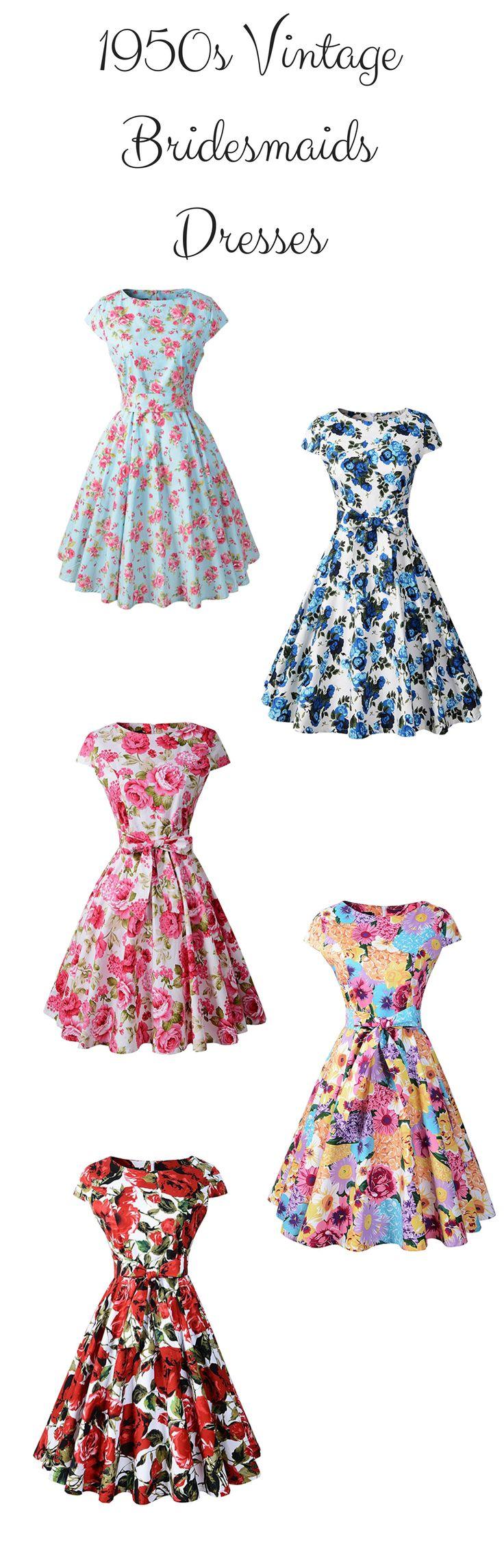 Cute bridesmaids dresses with floral prints - Chicanary Women's 1950s Vintage Cocktail Party Swing Dress Cap-sleeve - https://www.amazon.com/dp/B072BW83FD/ref=as_li_ss_tl?ie=UTF8&linkCode=ll1&tag=theweddingclu-20&linkId=9bb1e61acf7ae605b461b38b5f859d2b