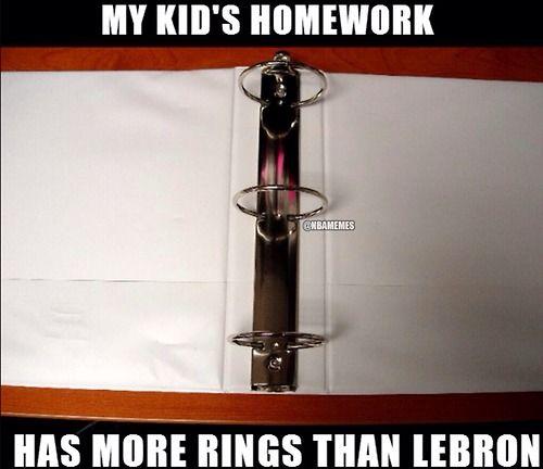 LeBron James' RING jokes continue! #2Rings #3Rings - http://nbanewsandhighlights.com/nba-memes/lebron-james-ring-jokes-continue-2rings-3rings