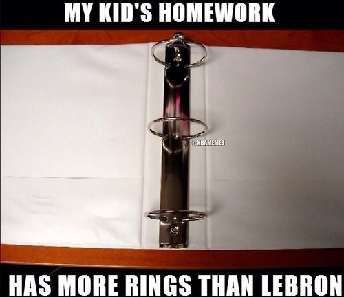 LeBron James' RING jokes continue! #2Rings #3Rings - http://nbanewsandhighlights.com/nba-memes/lebron-james-ring-jokes-continue-2rings-3rings