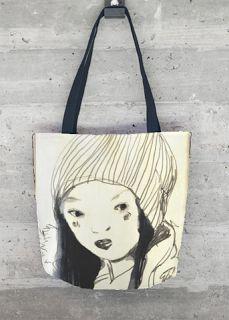 custom made tote bag from original drawing