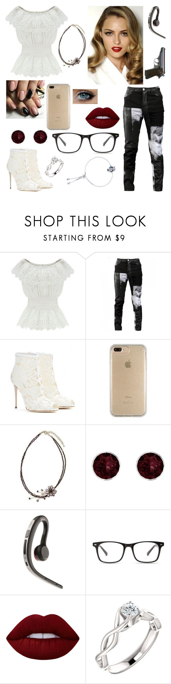 """""""Age of Adaline"""" by caketime ❤ liked on Polyvore featuring WithChic, Any Old Iron, Dolce&Gabbana, Speck, NOVICA, Pink Box, Jabra, Lime Crime and Unwritten"""