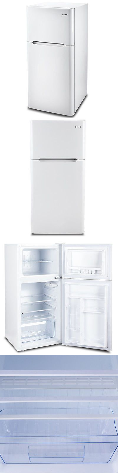 appliances: New 4.5 Cu Ft Refrigerator Mini Compact College Office Small Dorm Fridge, White BUY IT NOW ONLY: $219.97