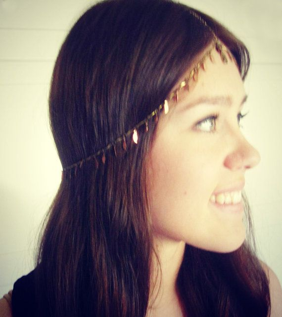 CHAIN HEADPIECE chain headdress by LovMely on Etsy, $40.00