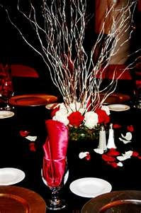 Black And Red Decorations .