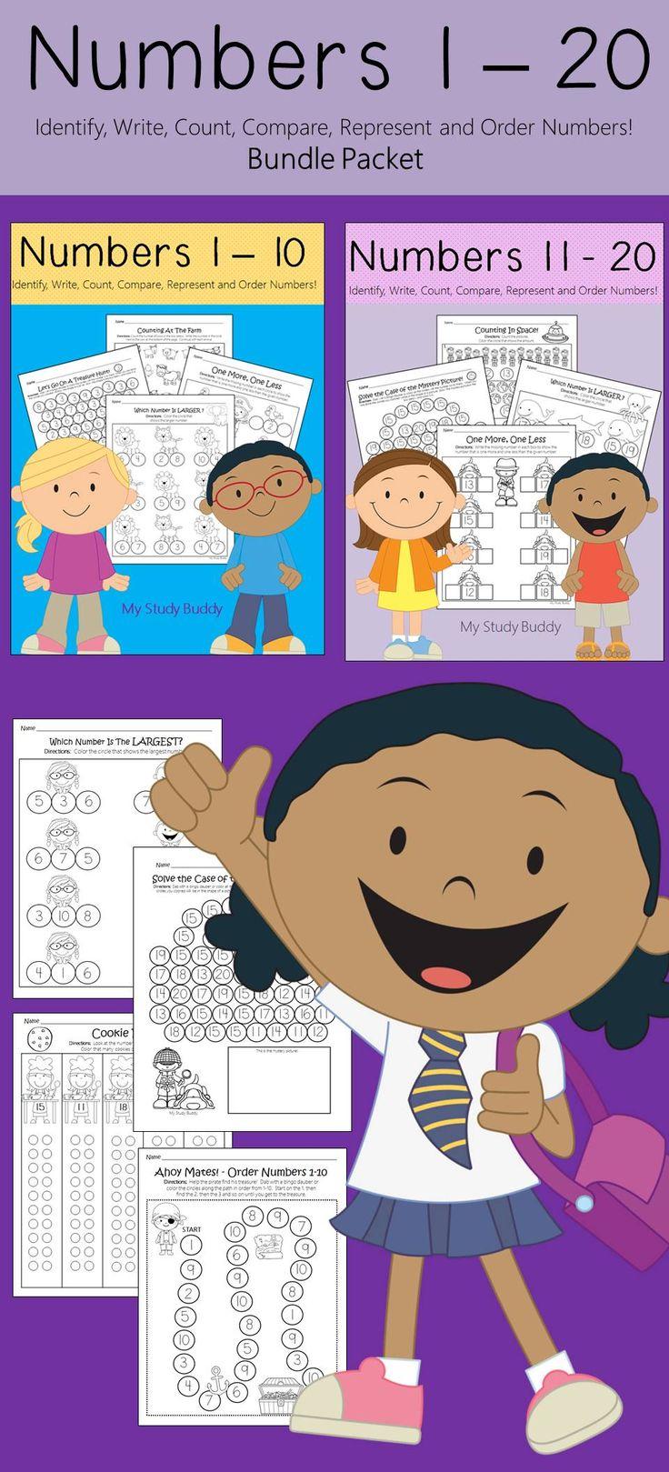 Numbers 1-20 Kindergarten Math Worksheets