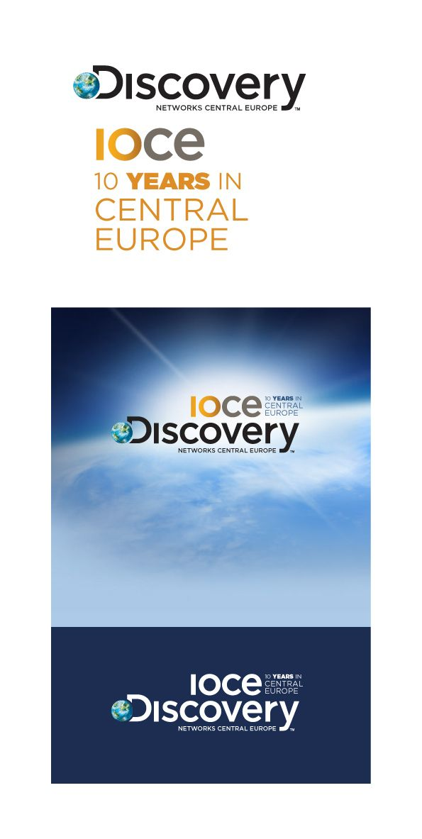 Sublogo for Discovery Network, celebrating 10th year of existance in Central Europe