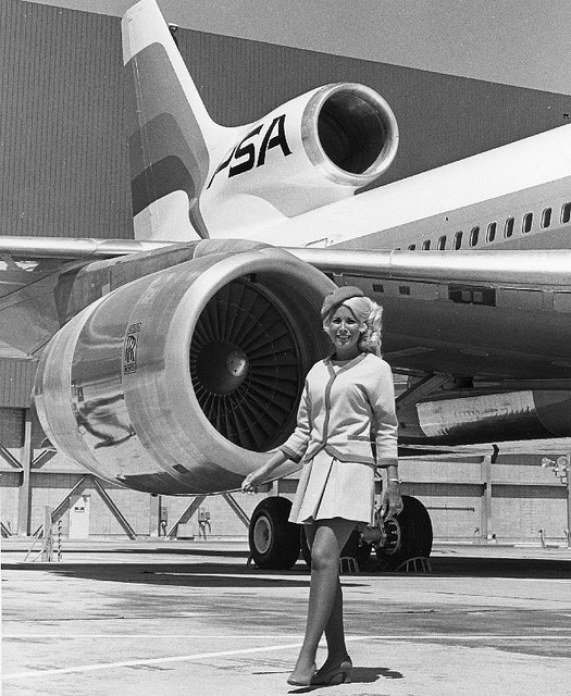 PSA flight attendant