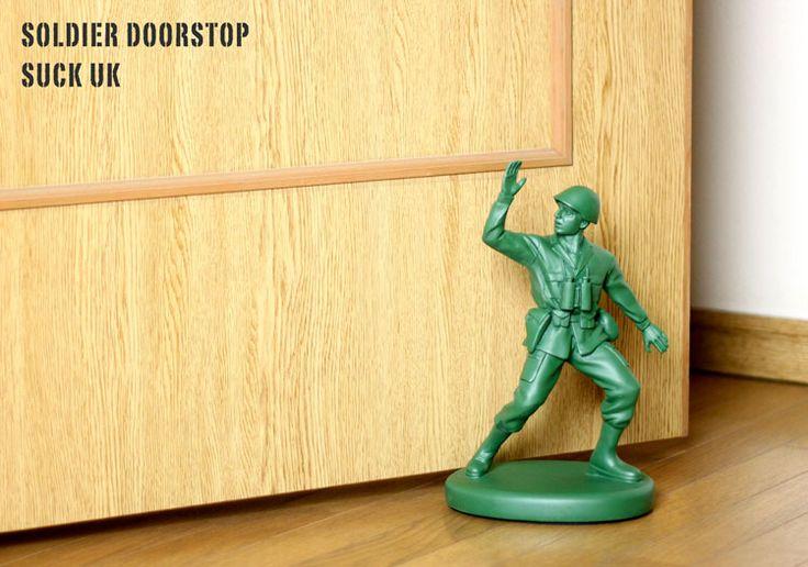 税抜3,500-:ちょっと予算オーバー ドアストッパー SOLDIER DOORSTOP