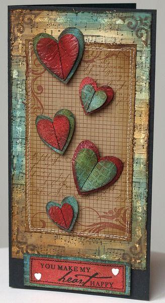 tim holtz valentine day card
