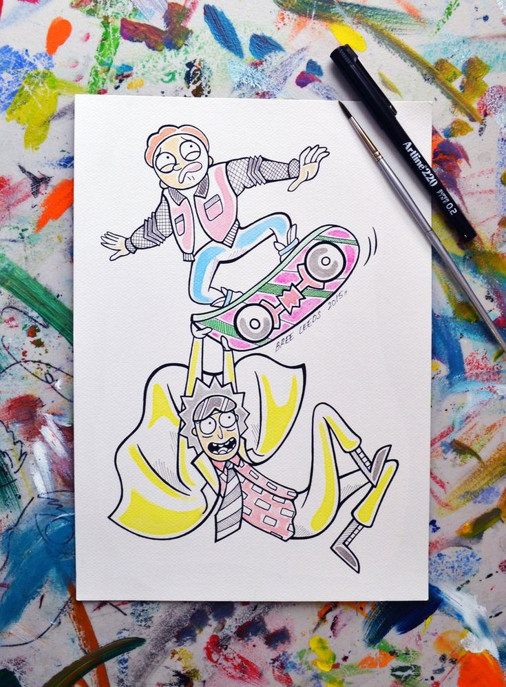 Morty Mcfly and Doc Rick Sanchez by Bree-Leeds