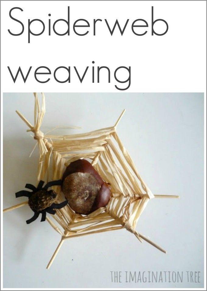 Chestnut /conker spiderweb weaving craft