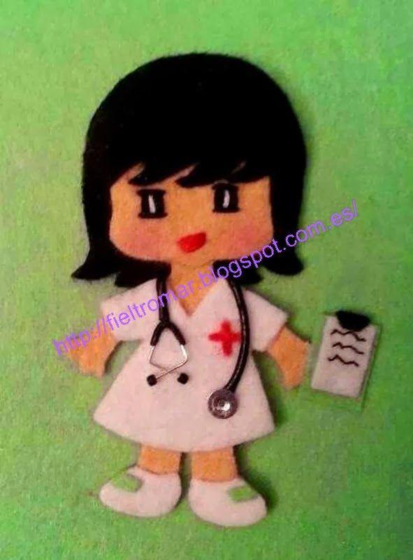 Broche de fieltro enfermera                                                                                                                                                                                 Más