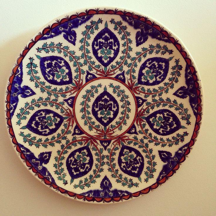 Armenian ceramic plate by Sandrouni of Jerusalem