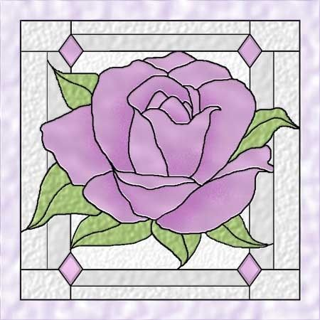 American Beauty Rose 3 Stained Glass Celtic Quilt Pattern by Celtic Crossworks