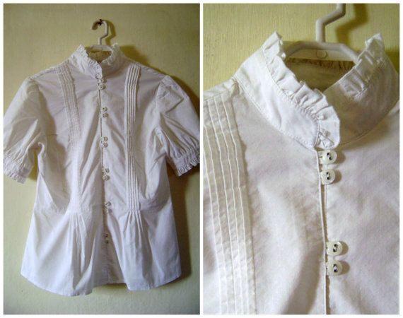 Victorian ShirtWhite ShirtWomen White Shirt by VintageBrandNew
