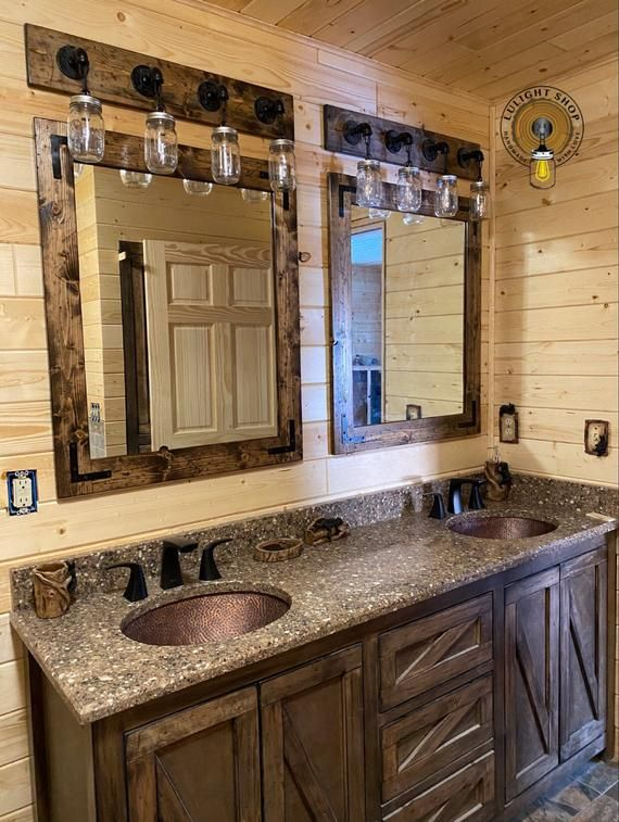 Rustic Distressed Bathroom Set Vanity