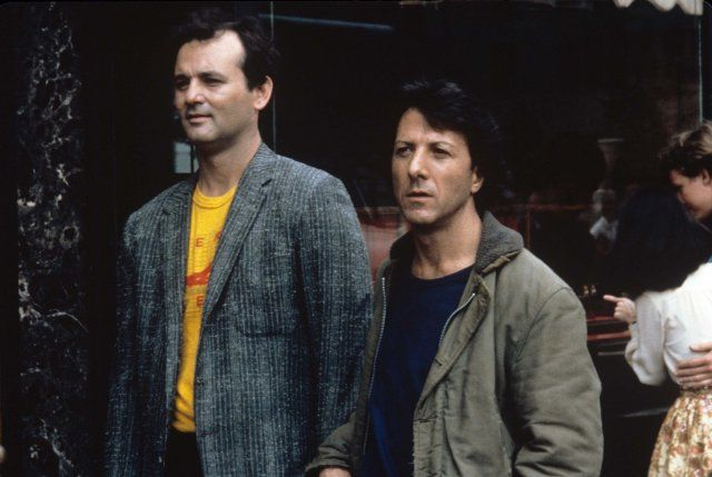 Still of Dustin Hoffman and Bill Murray in Tootsie. One of my fave movies and two of my favourite actors.