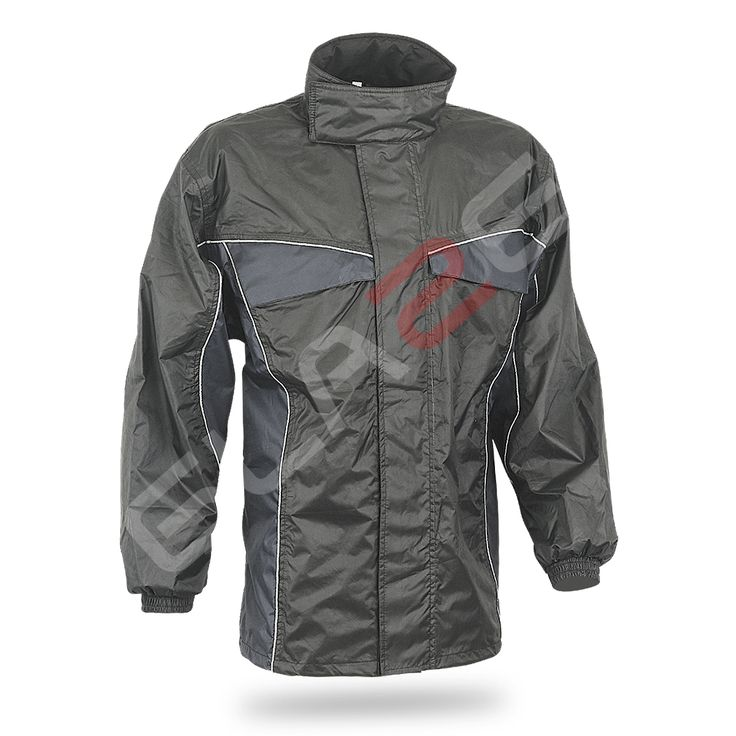 Raining ART No # 5021-103 Description  waterproof jacket  Outer shell • pvc-coated fabric (100% polyester)  Features • elasticated waist • storm cuff • arm adjustment • integrated hood  Protection. • reflective sections