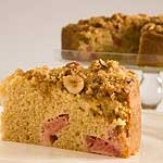 Very good rhubarb coffee cake!