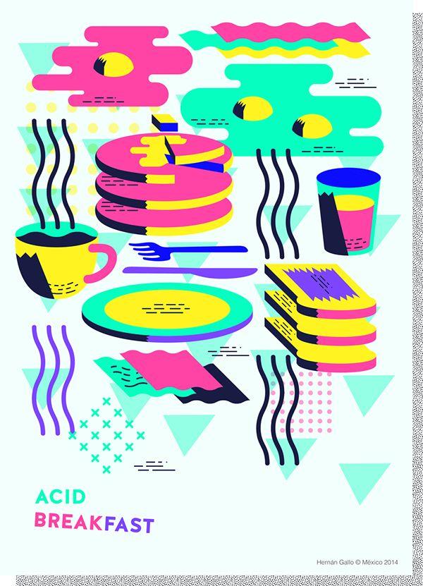 Acid Breakfast / Poster on Behance