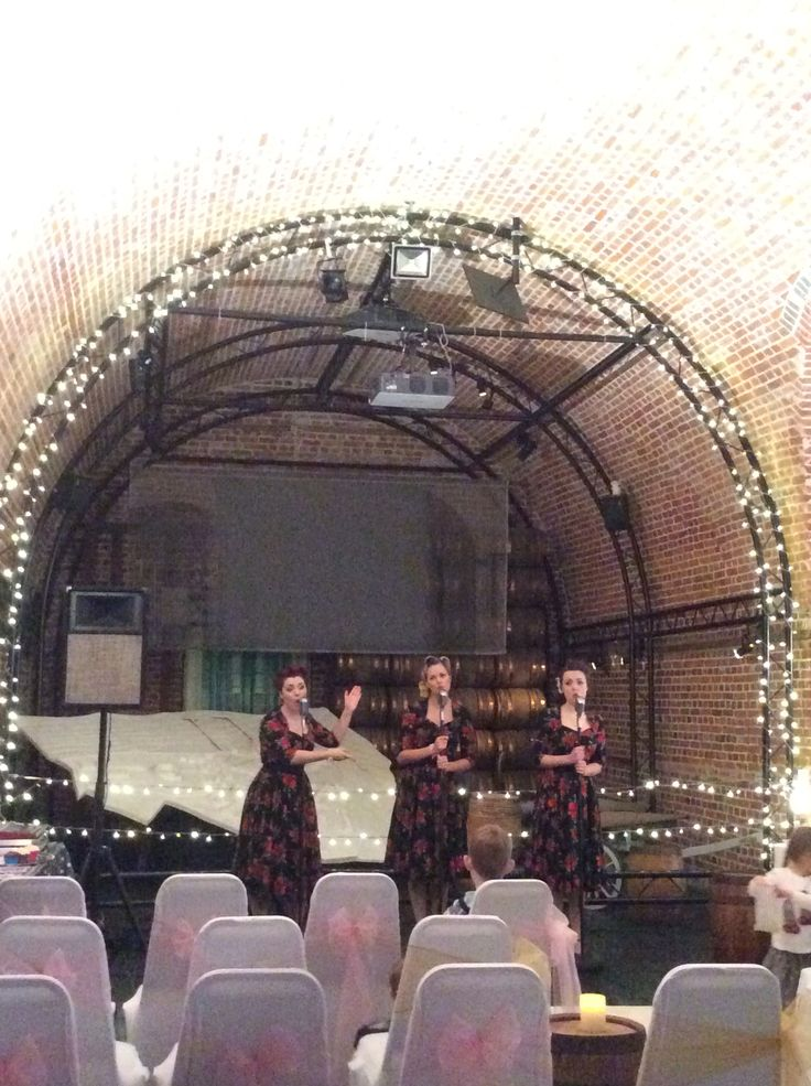 The Three Belles performing at Explosion Wedding Fayre in The Grand Magazine @explosionmuseum