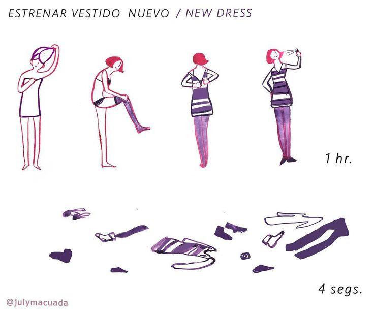El vestido nuevo /New dress #viñeta #100dayproject N40. #comic #viñetas #illustration #juntosyrevueltos #historieta #webcomic #100daysofmotivationforillustration