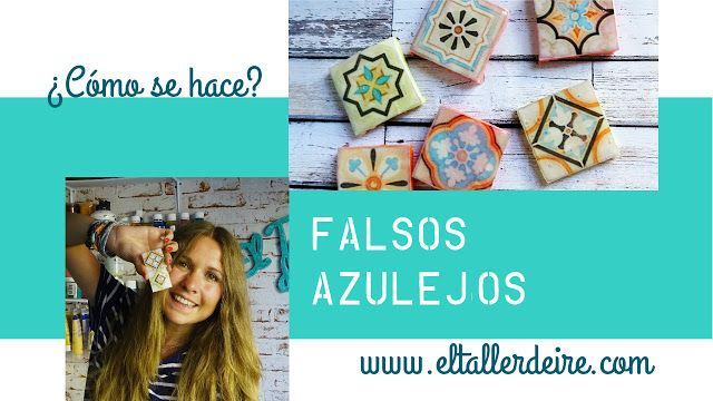 El taller de Ire: Cómo hacer falsos azulejos para crear mosaicos