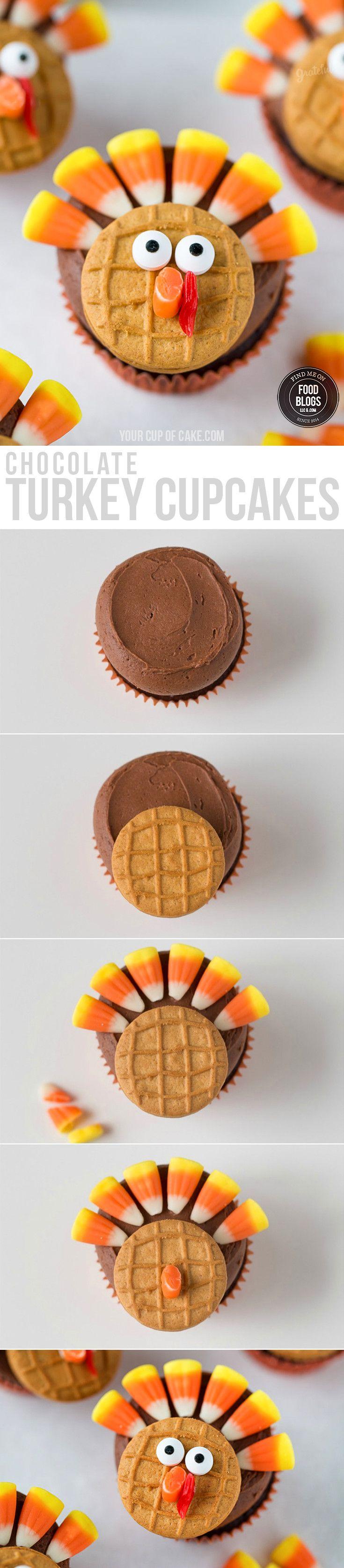 Best 20+ Chocolate turkey ideas on Pinterest   Turkey cupcakes ...
