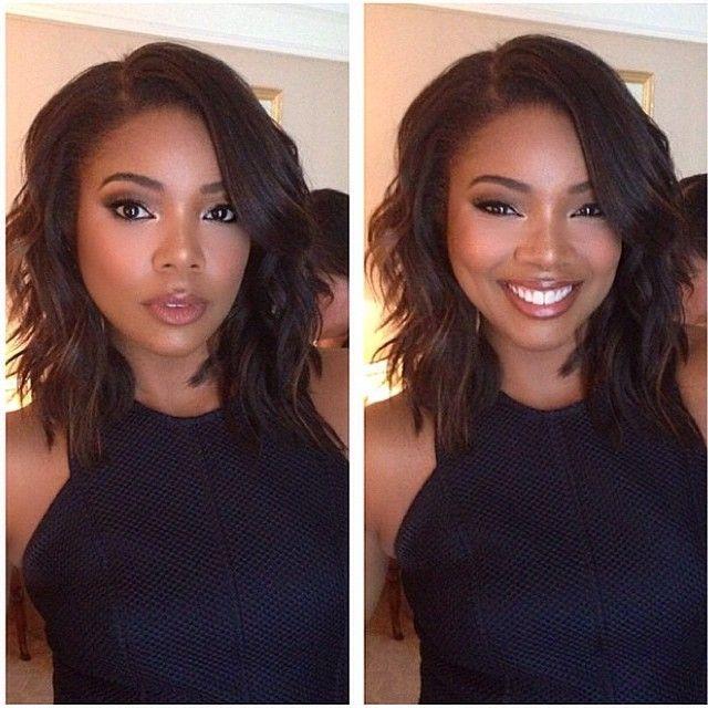 935289ca168 Gabrielle Union wavy bob | Hair Inspiration | Hair styles, Hair, Short hair  styles