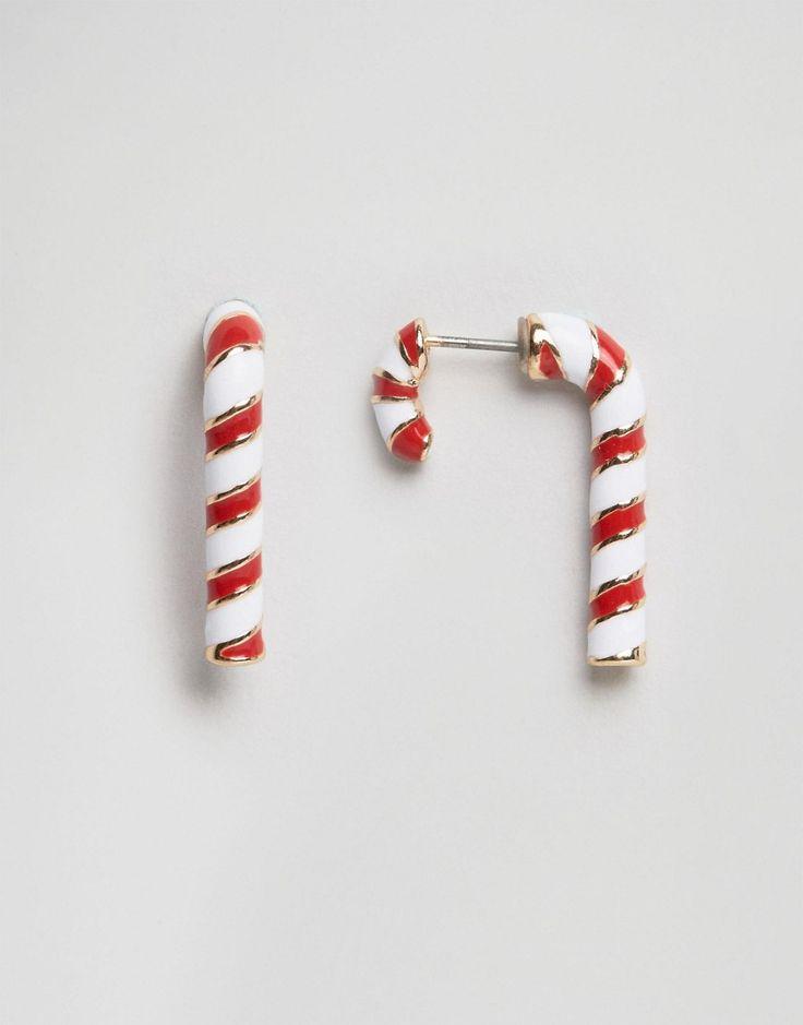 ASOS – Weihnachtliche Ohrringe mit Zuckerstangendesign
