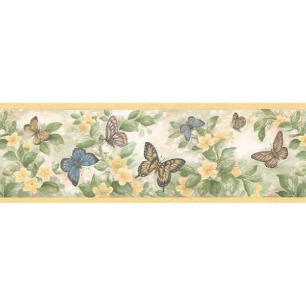 Brewster Butterflies Yellow Wallpaper Border 137b38633 The Home Depot In 2021 Butterfly Wallpaper Butterfly Wallpaper Border Wallpaper Border Bathroom wallpaper borders home depot