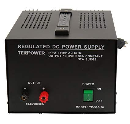 TekPower TP300-30 30 Amp DC 13.8V Regulated Power Supply with Fuse on