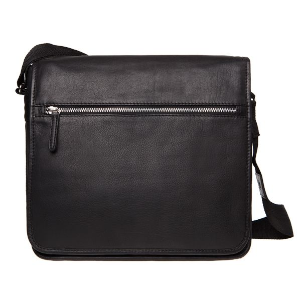 Marimekko leather shoulder bag black