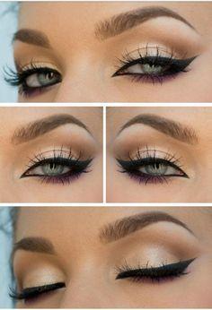 Maquillaje para ojos verdes, el delineado importa. No te pierdas estos paso a paso para ojos claros!