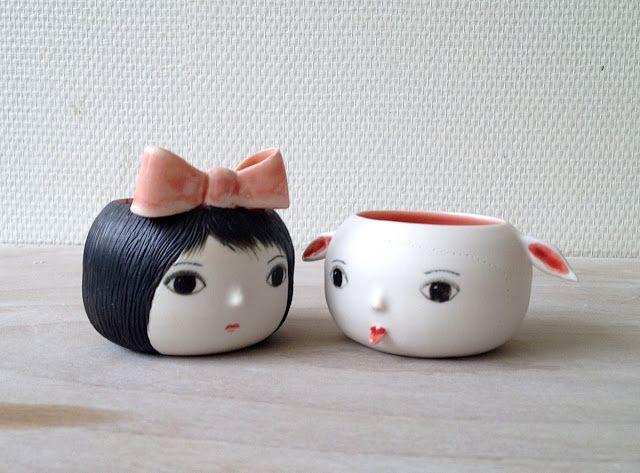 Petit couple de porcelaine by Nathalie Choux