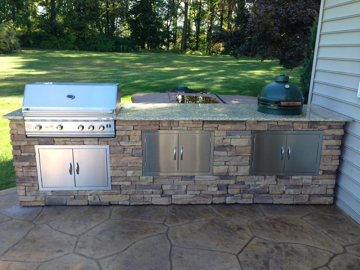 Best 25 bbq island kits ideas on pinterest covered for Pre built outdoor kitchen islands