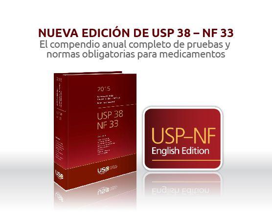 Ya está disponible la nueva edición de la #USP United States #Pharmacopeia, reserve la suya aquí: http://www.cymitquimica.com/es/resultados_filtrados?t=filter&cat=Publications&val=usp38-nf33&utm_source=nueva_usp_nf_33&utm_medium=email&utm_term=oct_2014&utm_content=99930901&utm_campaign=USP_NF_33   *Utilice este código promocional al momento de la compra: 99930901