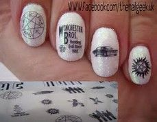Best 25 supernatural nails ideas on pinterest dean winchester supernatural nail art bing images prinsesfo Image collections