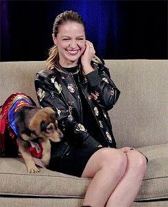 melissa benoist + puppies