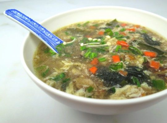 Egg Drop Soup with Seaweed - Authentic Egg Drop Soup is hard to find. It'soften full of gluten, MSG, preservatives,GMO soy and cornstarch. How healthy is that? Here's a deliciousauthentic Chinese recipethat you can make in minutes, with all natural (and Paleo) ingredients.