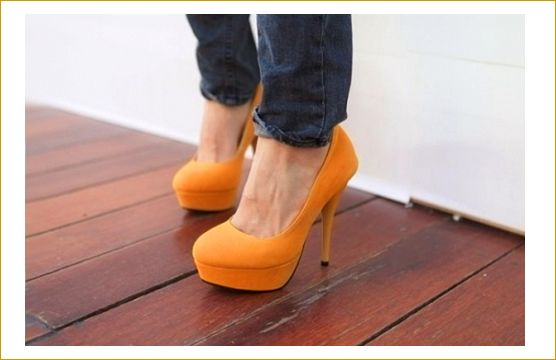 Orange Pumps :)