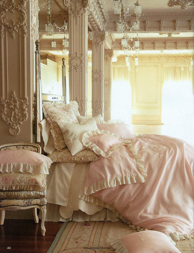 "Romantic Pom Pom at Home Bedding ""Celeste"" featured at NiemanMarcus.com"