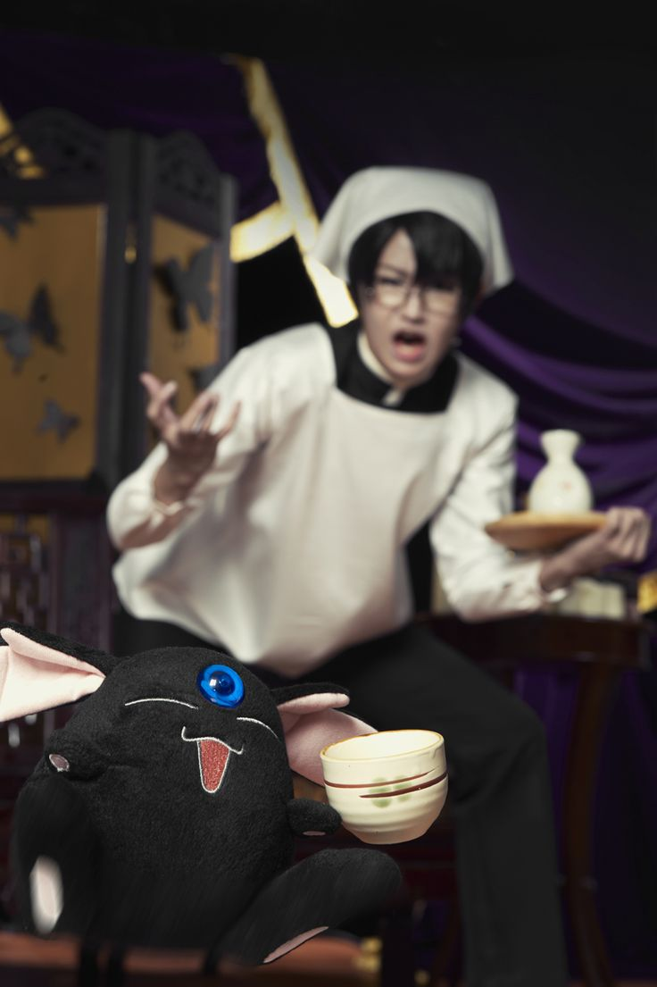 jajaja!!  I have that same Mokona!  With the actor from the live action xxxHolic show- awesome pic!