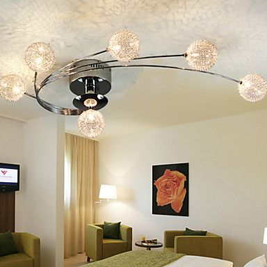 Ceiling+Light+Modern+Living+Bulbs+Included+6+Lights+/Characteristics+of+modern+minimalism,modern+style+characterized+by+–+USD+$+135.99
