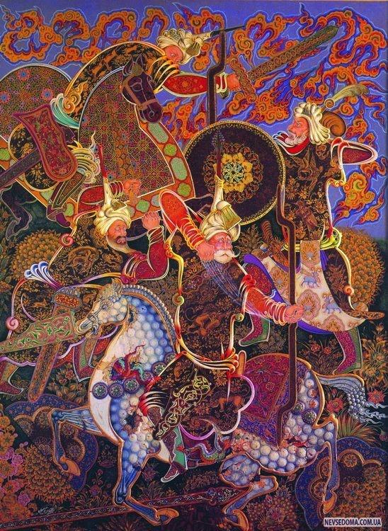 A Persian painting by Majid Mehregan