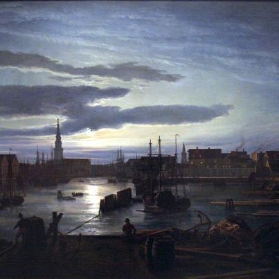Johan christian dahl 1788 1857 il porto di copenhagen al chiaro di luna 1846 german - Il giardino al chiaro di luna ...