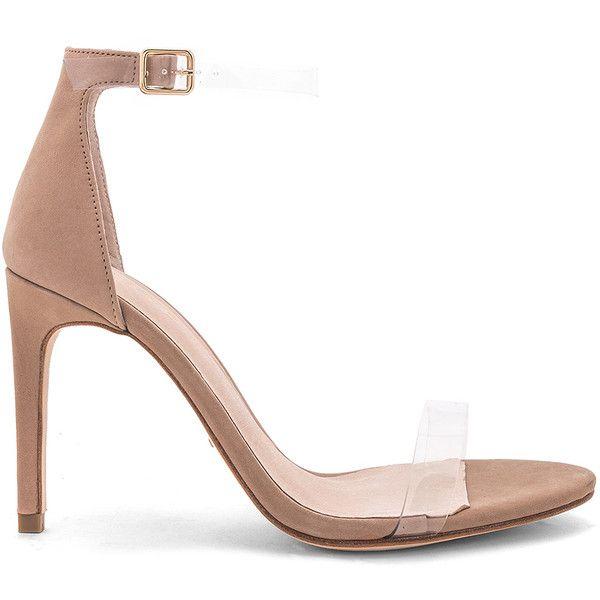 RAYE x REVOLVE Jameson Heel (902315 PYG) ❤ liked on Polyvore featuring shoes, pumps, heels, high heeled footwear, clear high heel shoes, vinyl shoes, heel pump and high heel pumps