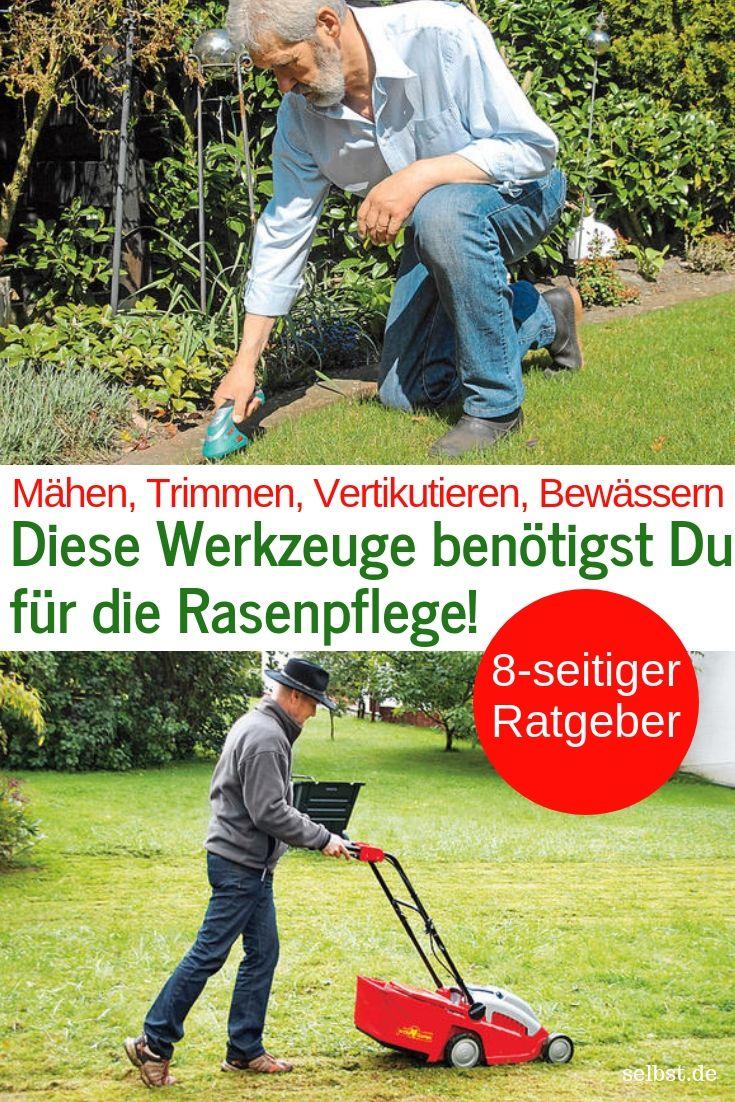Werkzeuge Zur Rasenpflege Selbst De Rasenpflege Rasen Garten Umgraben
