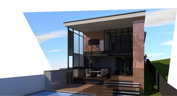 An exterior render of a property in Paddington by Focus Architecture.